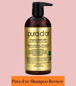 Pura d'or shampoo Review
